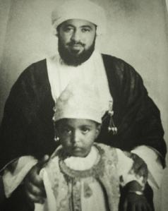 Said ibn Taymur tillsammans med sin son Qabus ibn Said som i vuxen ålder tvingade bort fadern från tronen